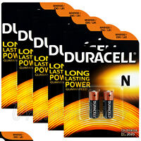 10 x Duracell Alkaline N batteries LR1 1.5V MN9100 E90 AM5 EXP:2020 2 in Pack