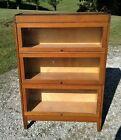 Antique Arts and Crafts 3 Stack Barrister Bookcase Quarter Sawn Oak Mission 1930