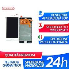 """LCD Display Assemblato Wiko U Feel Lite 5"""" Bianco Nuovo White Schermo Ricambio"""