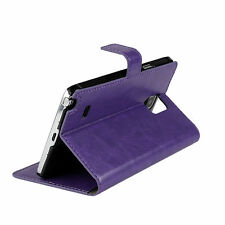 Plain Leather Cases & Covers with Kickstand for Samsung Mobile Phones