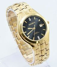 Brand New Elgin FG186N Gold Tone Stainless Steel Diamond Dial Men`s Watch