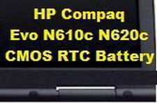 ~1 New HP Compaq Evo N610c N610v N620c CMOS RTC BATTERY