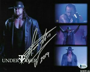 WWE THE UNDERTAKER HAND SIGNED AUTOGRAPHED 8X10 PHOTO WITH BECKETT COA RARE 5