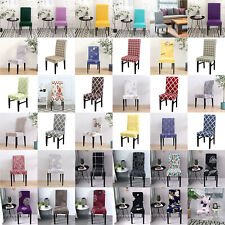 1/4/6Pc Wedding Banquet Chair Covers Stretch Seat Slipcovers Kitchen Dining Room