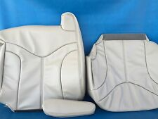 "2000-2002YUKON/SIERRA LEATHER(BACK/BOTTOM/ARM)DRIVER SEAT COVER-SHALE""CREAM#922"