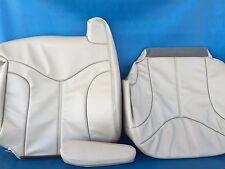 "2000-2002YUKON/SIERRA LEATHER(BACK/BOTTOM/ARM)DRIVER SEAT COVER-SHALE""CREAM#922"