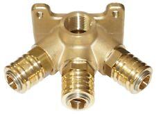 Druckluft-Verteiler Durchgangsverteiler Wanddose Luftverteiler 3 Kupplungen