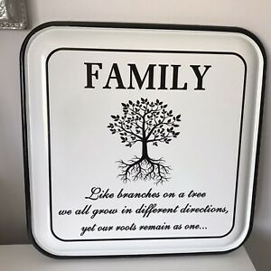 Vintage Style Enamel Wall Plaque Family -Like branches On A tree