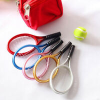 2Pcs 1:6 1:12 Dollhouse Miniature Tennis Racket + Ball Dolls Accessories E _ws