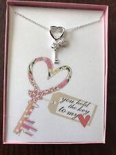 Key To My heart Key necklace w/ love poem