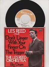 """LES REED - Don't Linger with your Finger on the Trigger / Big Drum 7"""" MINT"""
