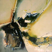 "HANDGEMALTES UNIKAT MODERNE Malerei "" FRÜHLINGS IMPRESION "" von Bozena Ossowski"