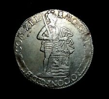 1781 SILVER NETHERLANDS DUCAT ARMORED KNIGHT COIN ZEELAND MINT