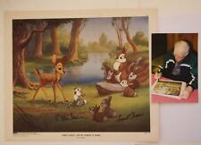 40's Forest Secrets Told by Thumper To Bambi Lithograph Signed Thomas Johnston