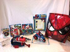 New Huge Lot Spiderman Yo-Yo Camera Phone Bump Go Bike Mega Blast Water Shooter