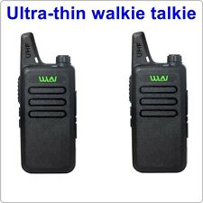 2pcs x WLN KD-C1 Black 16 Channel MINI Walkie Talkie Ham Radio UHF 400-470 MHz