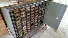 005 Vintage Industrial Metal 70 Drawer Storage Cabinet Steampunk Cubby