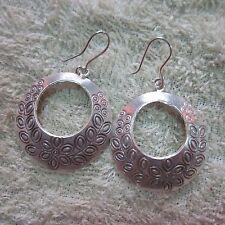 Fine Silver Earrings Sterling 925 Premium Hoop Olives Roman Styles CS2416051