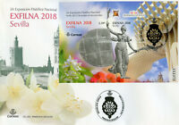 Spain 2018 FDC Exfilna Seville Ntl Stamp Exhibition 1v M/S Cover Flowers Stamps