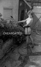 CDN3-6378 VINTAGE 1960'S B&W 35MM NEG ELMER BATTERS LEGS NYLONS TOES NUDE
