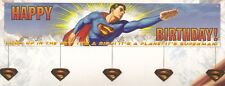 """Wholesale ! Superman ! B'day Party Banner >> 60"""" X 12"""""""