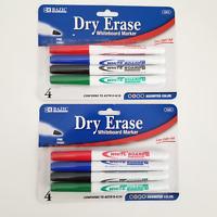NEW Dry-Erase Fine Tip Whiteboard Markers 2 Packs Green Blue Black Green