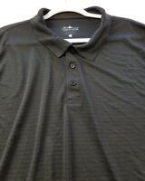 Charles River Men Short Sleeve Polo Shirt 3XL XXXL Black Stripe Casual Polyester