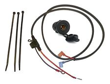 """12V Accessory Socket (DIN/Hella type - 37mm) with 1.2m (48"""") Loom - (Blade Fuse)"""