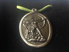 "Diana Goddess code dr88  Made From English Pewter On 18"" Green Cord Necklace"