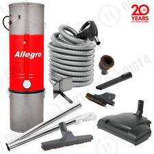 Allegro Central Vacuum 3,000 sq ft Unit 30' PIGTAIL Wessel-Werk Powerhead SET!!!