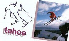 Vintage Ski Tahoe, Lake Tahoe, Calif. Postcard P128