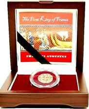The First King of France,Medieval Coin of Philip II Augustus boxed & Story