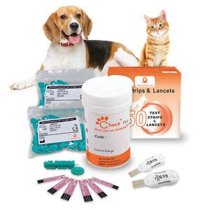 Test strips lancets for blood glucose meter monitor dog cat glucometer diabetes
