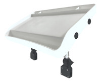 Pactrade Marine Fishing Deluxe White Large Bait Fillet Cutting Board Rail Mount