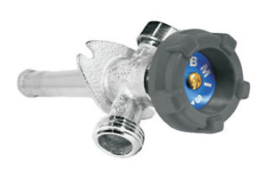 """BMI 27418 Ultra Chrome Plated Frost Free Faucet with Vaccum 1/2"""" MIPS/C x 18"""""""