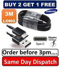Para Samsung Galaxy S9 S9+ Plus Tipo C-C Cargador de Sincronización USB carga cable de 3 M