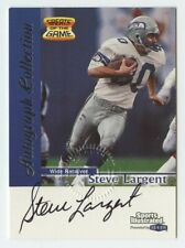 Steve Largent 1999 Fleer greats of the game Sports Illustrated Seahawks auto