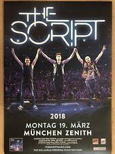 THE SCRIPT  2018  MÜNCHEN -- Concert Poster - Konzert Plakat  A1 NEU