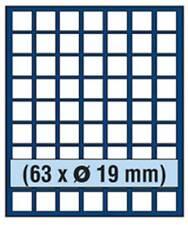SAFE 6819 NOVA Element exquisite Holz-Münzbox für 63 Münzen mit 19 mm Durchmesse