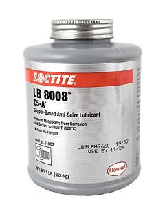 🌟LocTite LB 8008 C5-A, Copper Based Anti-Seize Lubricant, 1 lb. Brush Top Can