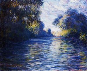 Full Drill Diamond Painting Kit Morning on the Seine Monet 1897 Painting