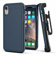 iPhone XR Belt Clip Holster Slim Case / Cover with Clip | Slimshield | Blue