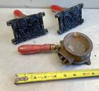 """vtg """"home foundry mfg co"""" TOY LEAD SOLDIER metal MELTING casting set MOLDS"""