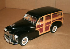 1/24 Scale 1948 Chevy FleetMaster Woody Wagon Diecast Model - Welly 22083 Black