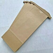 20 Kraft Paper Tie Tab Top Bags Gusset 10 Inches X 4 Inches Rustic Brown