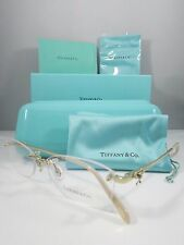 Tiffany & Co. TF 1101 6021 Gold/Peach/Bow New Authentic Eyeglasses 53mm w/Box