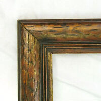 "VINTAGE FITS 12.5""x 20"" OAK GOLD GILT  PICTURE FRAME COUNTRY PRIMITIVE FINE ART"