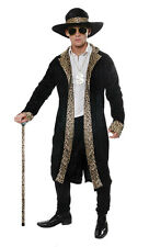 Adult Mens Leopard Print 70s Pimp Daddy Gangster  Fancy Dress Costume U00 406