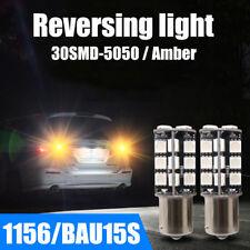 2x ERROR FREE Car LED Reversing Light BAU15S 1156 30 SMD DC12V Orange Turn Light