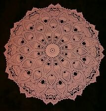 """18"""" Dimensional Hand Crocheted Thread Doily """"Bewitching"""""""